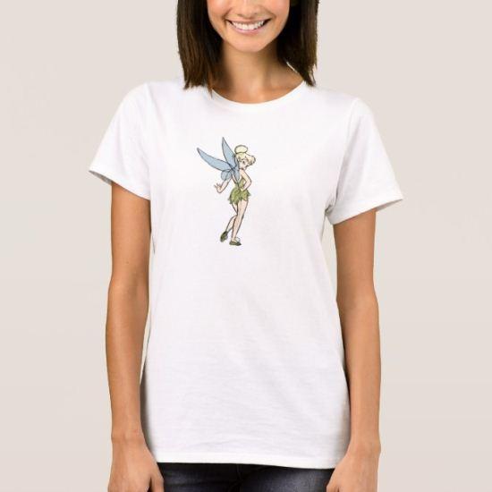 Peter Pan Tinkerbell sketch standing posing Disney T-Shirt