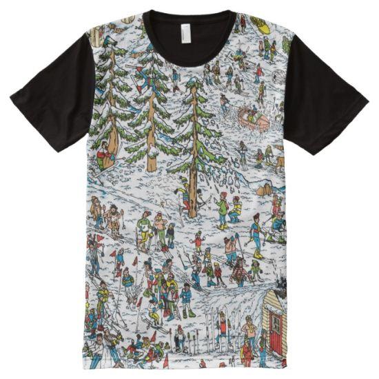 Where's Waldo Ski Slopes All-Over Print T-shirt