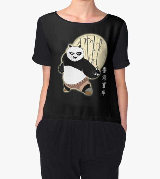 Kung Fu Panda Women's Chiffon Top by VallaV T-Shirt