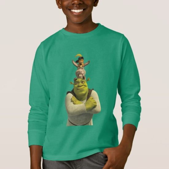 Puss In Boots, Donkey, And Shrek T-Shirt