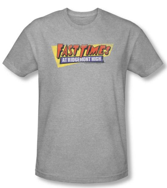 Fast Times At Ridgemont High T-shirt Logo Heather Slim Fit Shirt