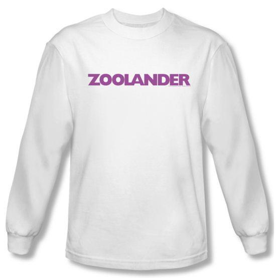Zoolander Shirt Logo Long Sleeve White Tee T-Shirt