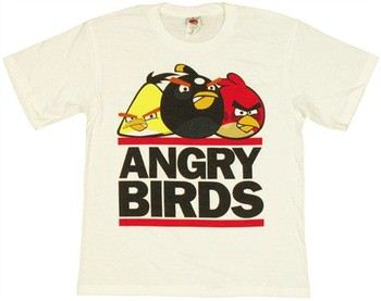 Angry Birds Lined Logo Youth T-Shirt
