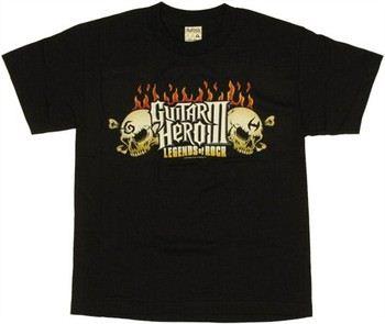 Guitar Hero 3 Legends of Rock Logo Youth T-Shirt
