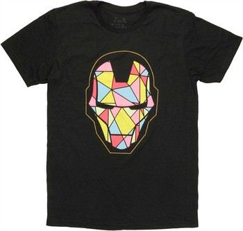 Marvel Comics Iron Man Stained Glass Helmet Jack of All Trades T-Shirt Sheer