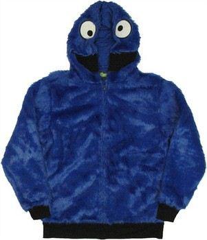 Sesame Street Cookie Monster Furry Costume Full Zipper Hooded Sweatshirt