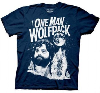 The Hangover Alan One Man Wolfpack Navy T-shirt