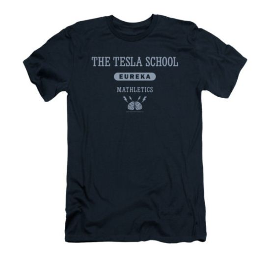 Eureka Shirt Slim Fit Tesla School Navy T-Shirt