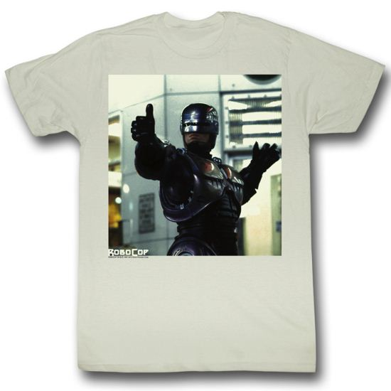 Robocop Shirt Thumbs and Ammo Adult Natural Tee T-Shirt