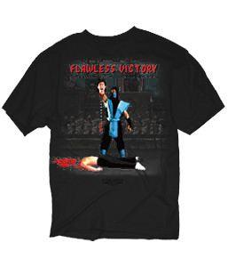 Mortal Kombat Decapitation Flawless Victory Black Adult T-Shirt