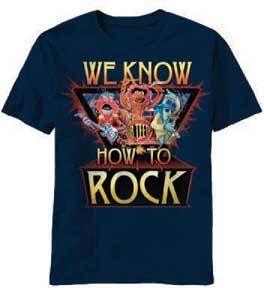 The Muppets We Know How to Rock Adult Navy T-shirt