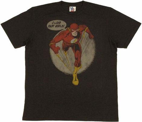 Flash Fast Girls T Shirt Sheer