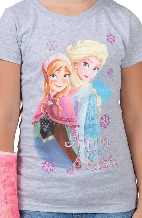 Girls Frozen Anna and Elsa Shirt