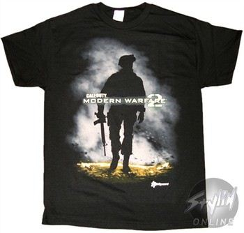 Call of Duty Modern Warfare 2 Soldier Silhouette T-Shirt
