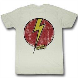 Flash Gordon Shirt Flash Bolt Adult Dirty White Tee T-Shirt