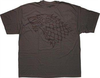Game of Thrones Stark Direwolf Sigil Vintage Charcoal T-Shirt