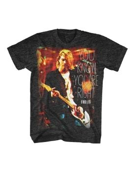 089cbbc17 ... Nirvana Kurt Cobain You Know Your Right Men's T-Shirt