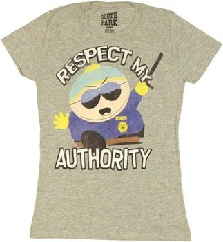 South Park Cartman Respect My Authority Swing Baby Doll Tee