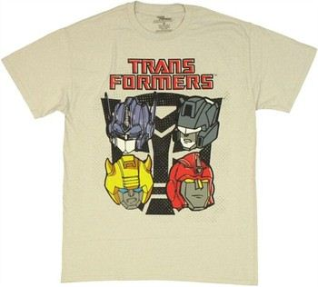 Transformers Four Autobot Helmets T-Shirt