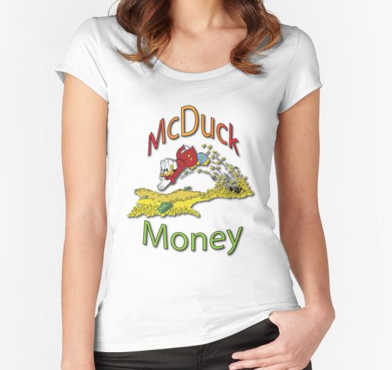 'Scrooge McDuck' Women's Fitted Scoop T-Shirt by gizmomatrix T-Shirt