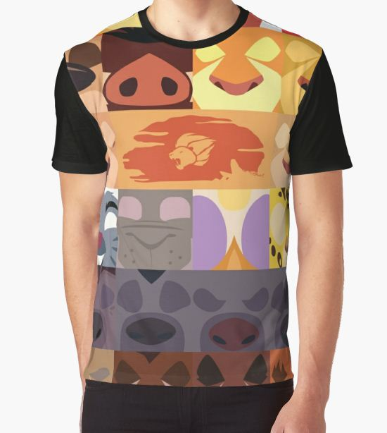 Lion Guard and Outlanders Minimalist Icons Graphic T-Shirt by samohtlion T-Shirt