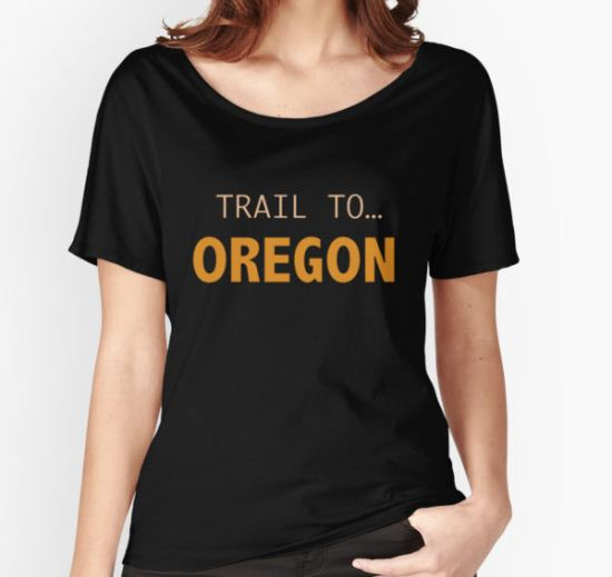 Trail to Oregon Women's Relaxed Fit T-Shirt by Charlie Smith T-Shirt
