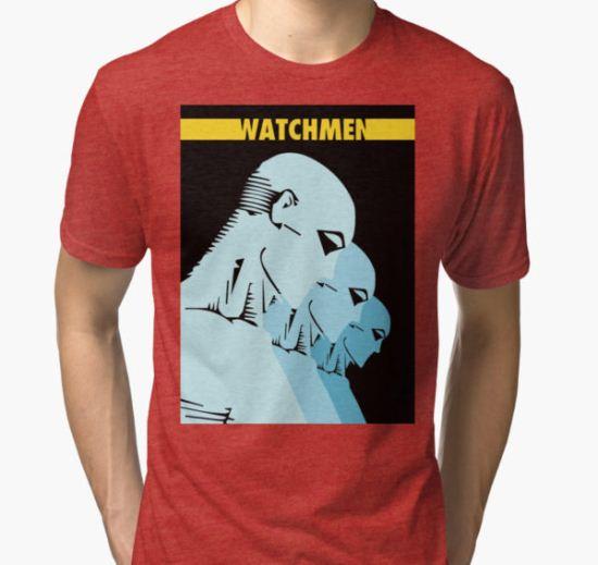 Dr. Manhattan Multiply Tri-blend T-Shirt by Ivo Lundin Hatje T-Shirt