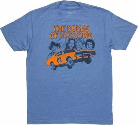 Dukes of Hazzard Vintage Group T Shirt Sheer