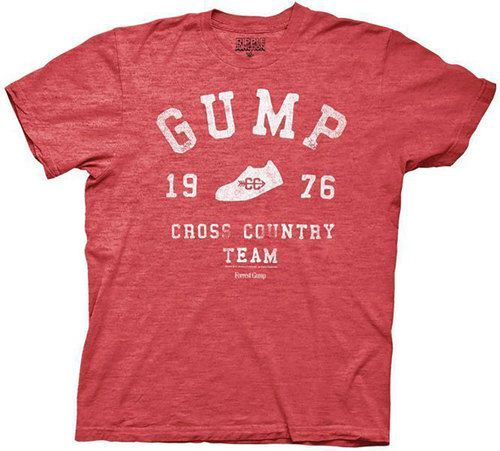 Forrest Gump 1976 Cross Country Team Adult Heather Red T-Shirt