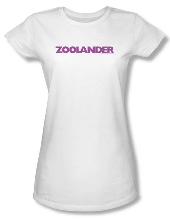 Zoolander Shirt Juniors Logo White Tee T-Shirt