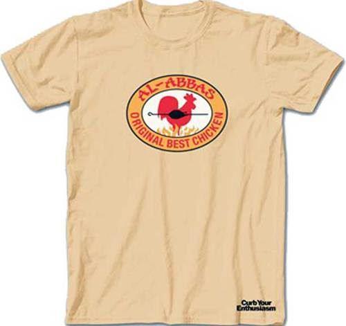 Curb Your Enthusiasm Al-Abbas Original Best Chicken Heather Yellow Adult T-Shirt
