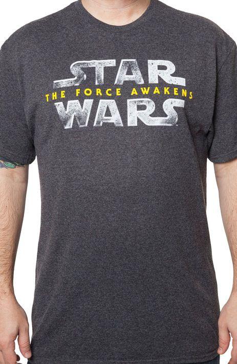 Mens Star Wars Force Awakens Logo T-Shirt