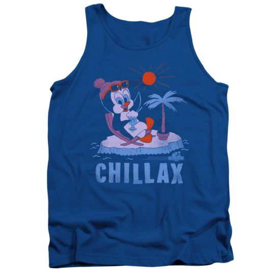 Chilly Willy Tank Top Chillax Royal Blue Tanktop