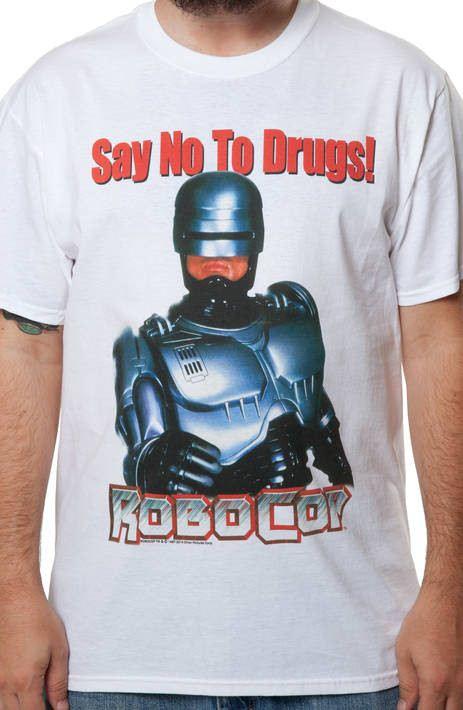 Say No To Drugs Robocop T-Shirt