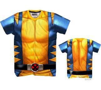 Marvel Comics X-Men Wolverine Performance Athletic Sublimated Costume T-Shirt