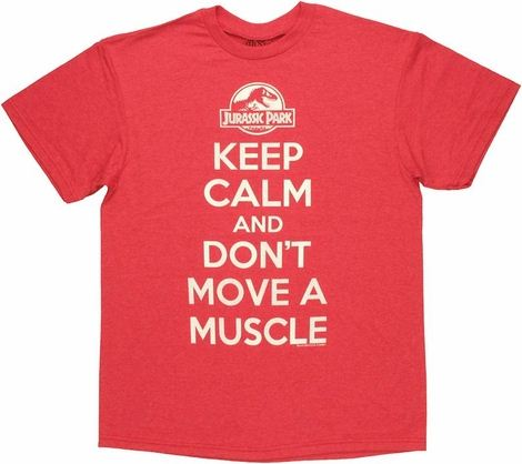 Jurassic Park Keep Calm T Shirt
