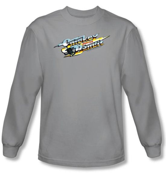 Smokey And The Bandit T-shirt Logo Adult Silver Long Sleeve Tee Shirt
