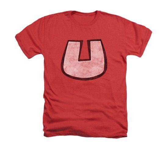 Underdog Shirt U Crest Adult Heather Red Tee T-Shirt