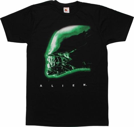 Alien Profile T-Shirt Sheer