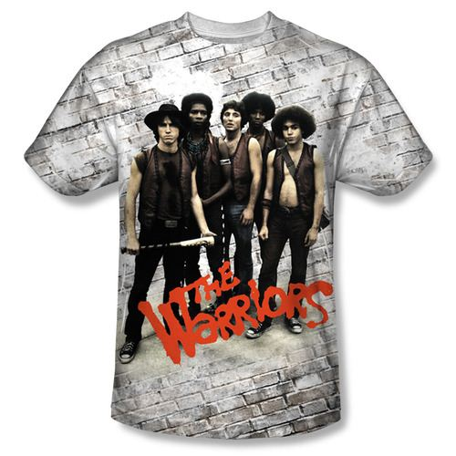 The Warriors Cast Pose Sublimation Adult White T-Shirt