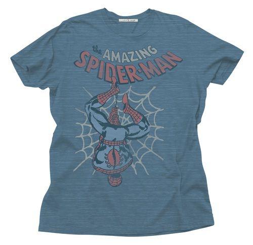 Black T-Shirt LARGE Spiderman Face
