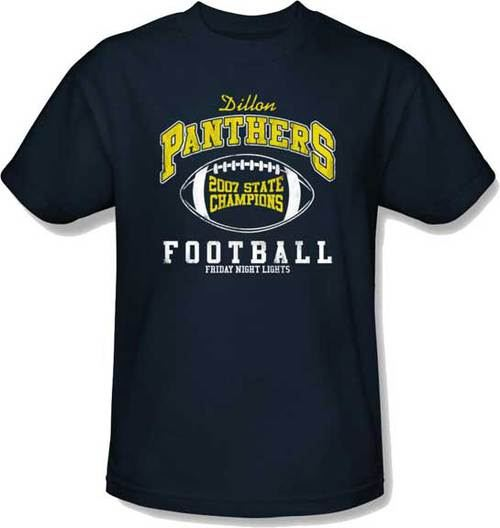 079b243eb57 ... Friday Night Lights Dillon Panthers 2007 State Champions Adult Navy T- Shirt