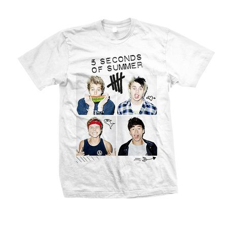 5 Seconds of Summer: 5SOS: Scribble Photo T-Shirt