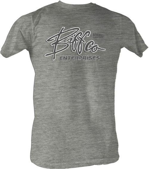 ... Back to the Future Biff Co. Enterprises Gray Heather Adult T-shirt