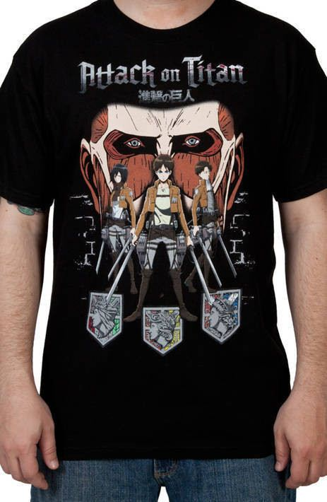 Xbox One Japanese manga series Tee Official Attack On Titan Chibi Adult T-shirt