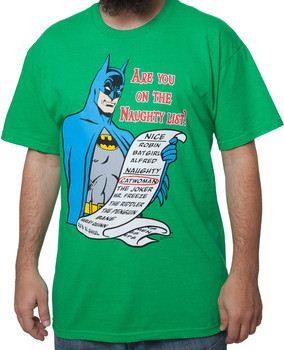 Naughty List Batman T-Shirt