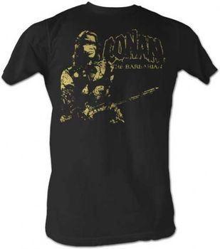 Conan The Barbarian The Man Cracked Black Mens T-Shirt