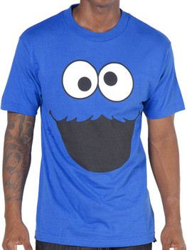 Cookie Monster Face Adult T-Shirt