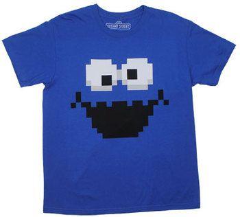 Pixellated Cookie Monster - Sesame Street T-shirt
