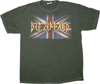 Def Leppard Flag Blackwash Music T-Shirt